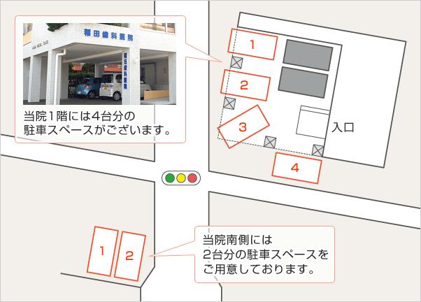 駐車場の場所案内の図